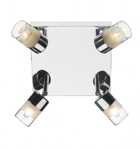 0.2) Artemis 4 Light Plate Polished Chrome IP44  (Class 2 Double Insulated) BXART8550-17
